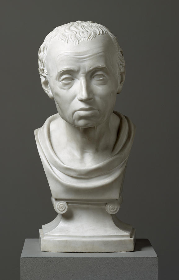 Portrait Of Emmanuel Kant  Sculpture  - Portrait Of Emmanuel Kant  Fine Art Print