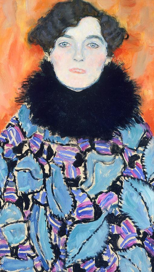 Portrait Of Johanna Staude Painting