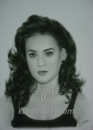 Portrait Of Katy Perry Drawing