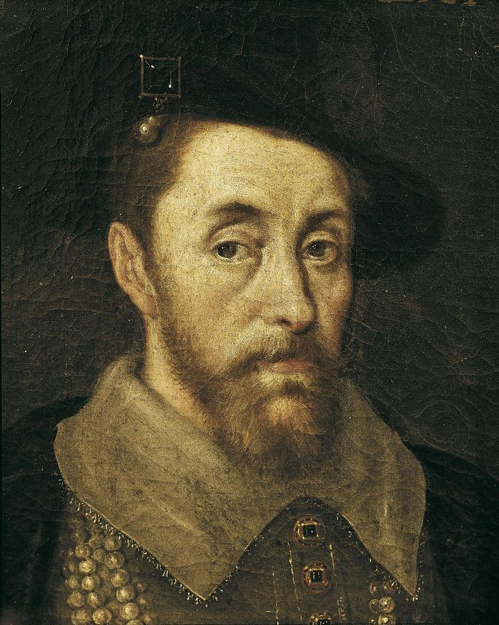 Portrait Of King James I. 17th C Photograph