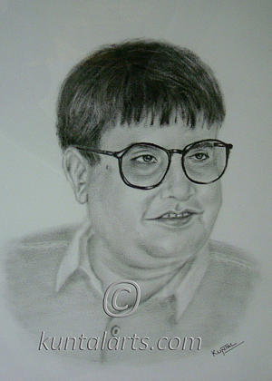 Portrait Of Madhu Acharya ashawadi Drawing