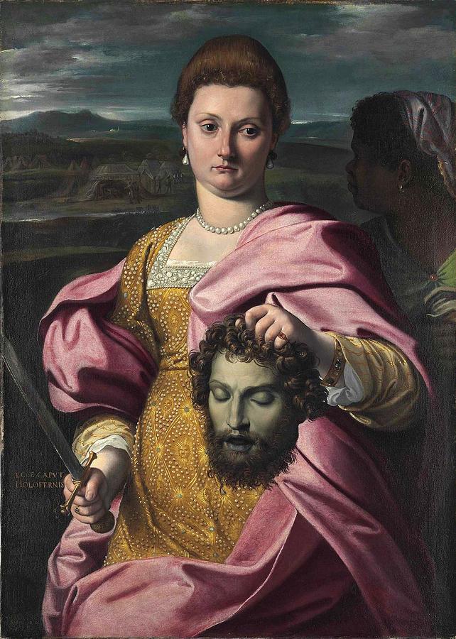 Portrait Of Olimpia Luna And Melchiorre Zoppio As Judith ...