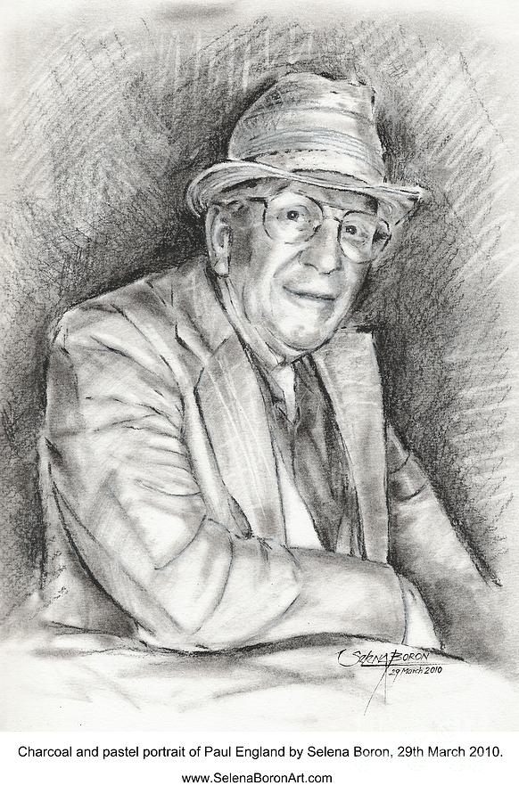 Portrait Of Paul England Drawing