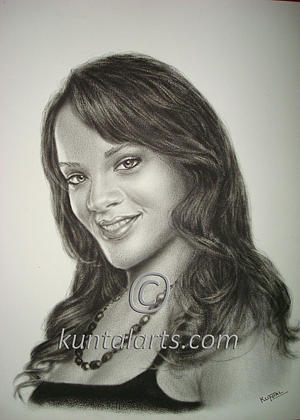 Portrait Of Rihanna Drawing