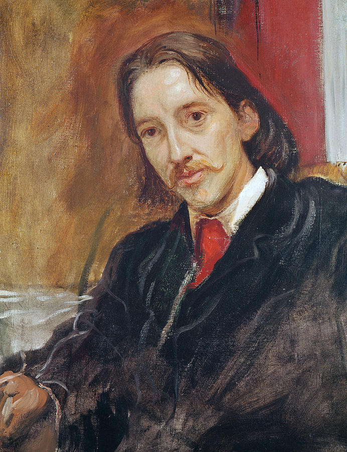 Portrait Of Robert Louis Stevenson Painting  - Portrait Of Robert Louis Stevenson Fine Art Print