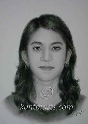 Portrait Of Shubhangi Drawing