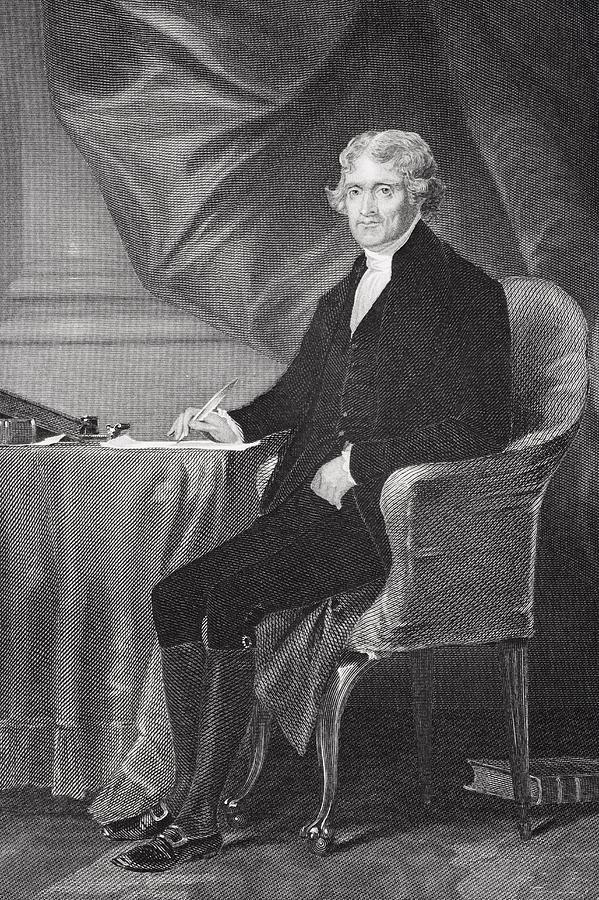 Portrait Of Thomas Jefferson Drawing