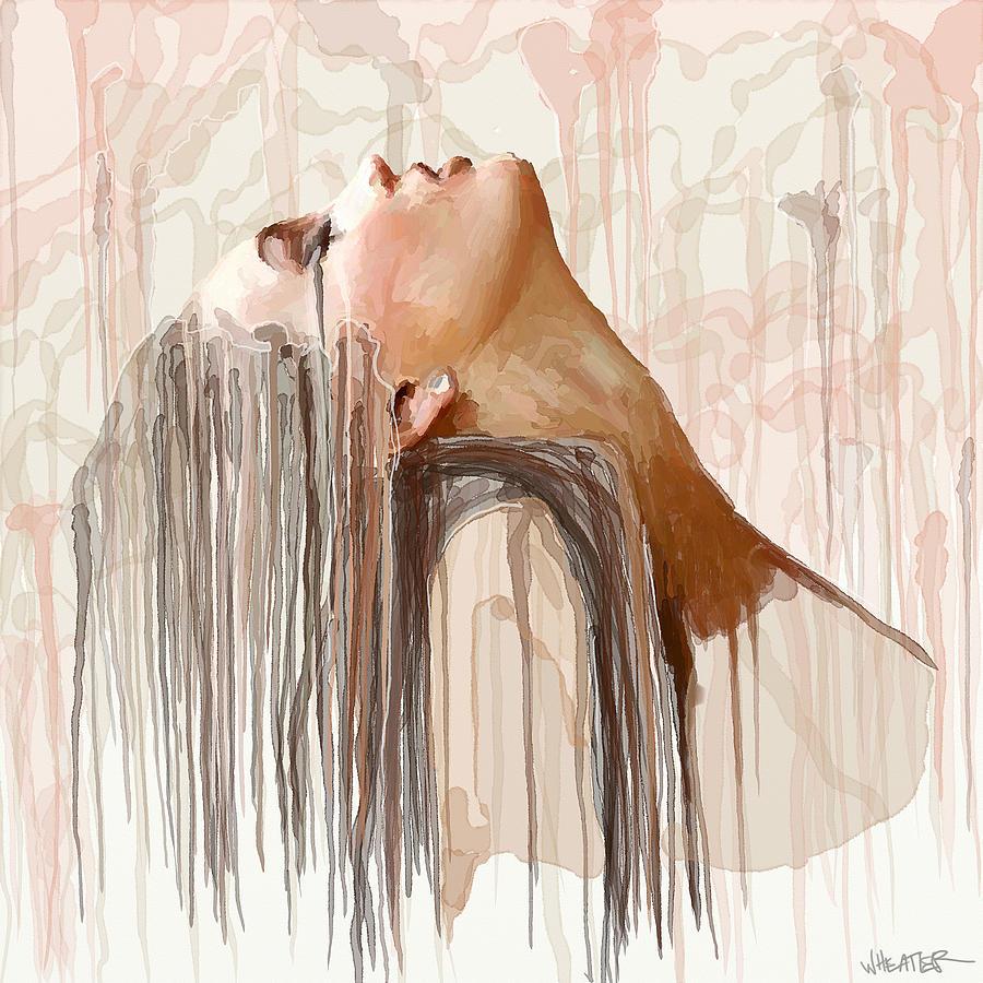 Rain Painting - Portrait Painting - Rain by Robert Wheater