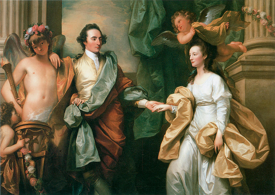 Portriat Of Mr And Mrs John Custance Painting By Benjamin West