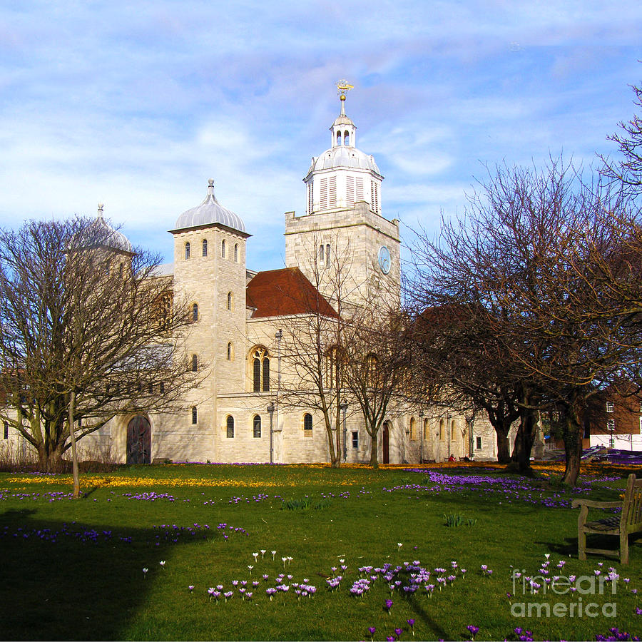 Portsmouth Cathedral At Springtime Photograph  - Portsmouth Cathedral At Springtime Fine Art Print