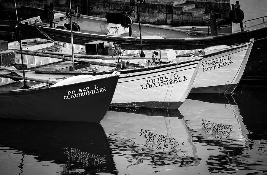 Portuguese Fishing Boats Photograph