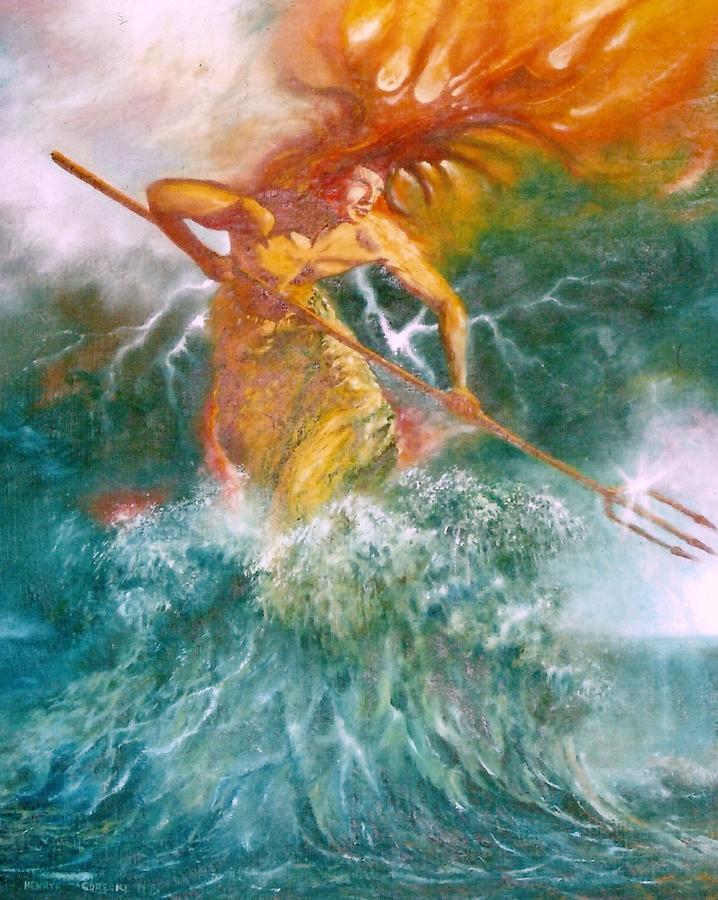 Poseidon Painting