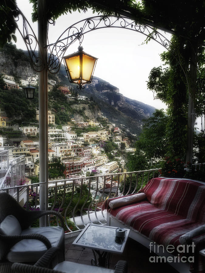 Positano Evening Photograph  - Positano Evening Fine Art Print
