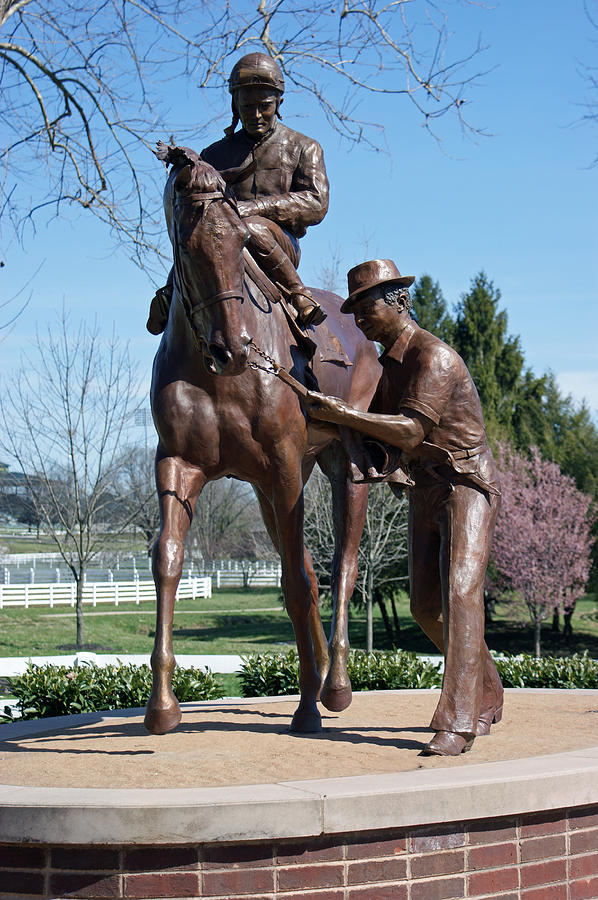 Statue Photograph - Post Time by Roger Potts