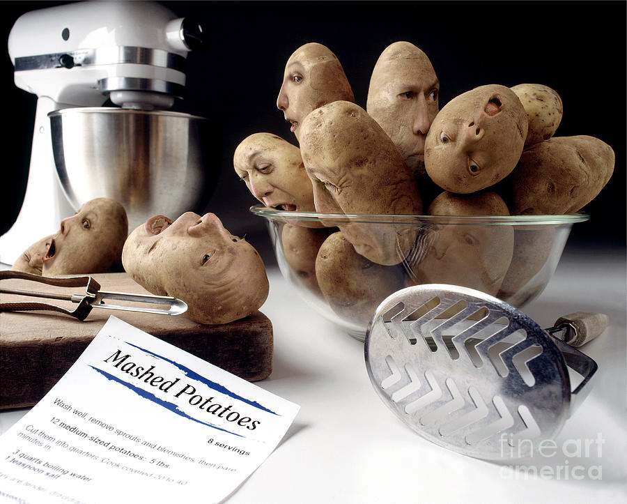 Potato Panic Photograph  - Potato Panic Fine Art Print