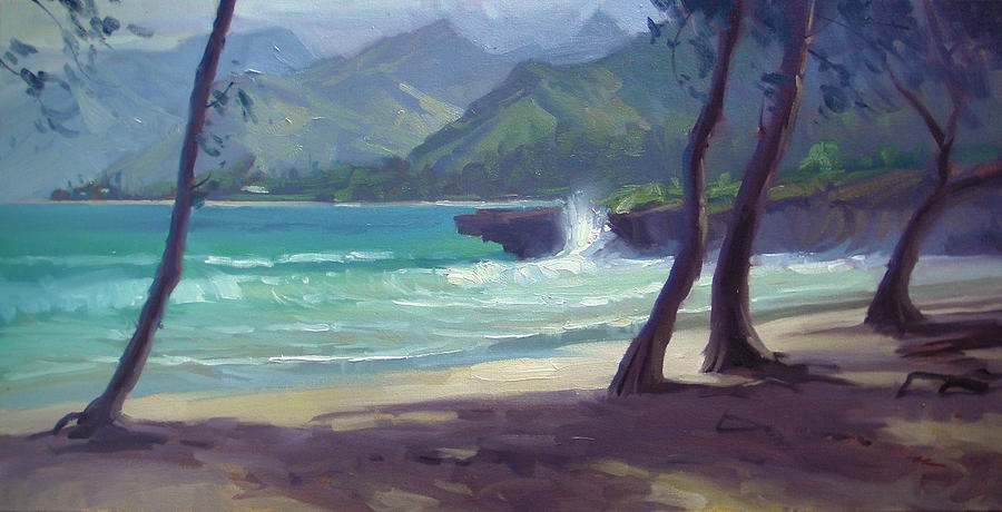 Hawaii Painting - Pounders IIi by Richard Robinson