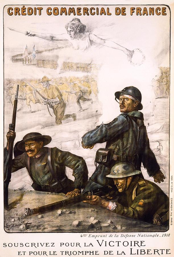 Pour La Victoire - W W 1 - 1918 Photograph