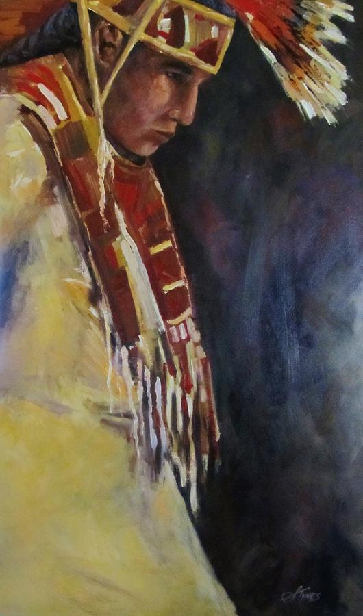 Pow Wow Dancer Painting  - Pow Wow Dancer Fine Art Print