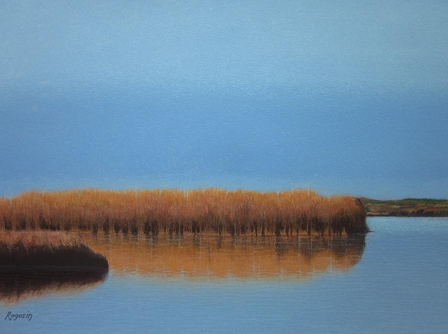Powder Blue Marsh Painting