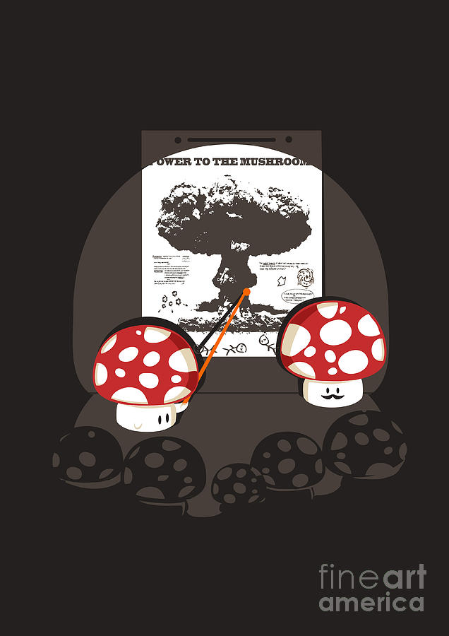 Power To The Mushroom Digital Art