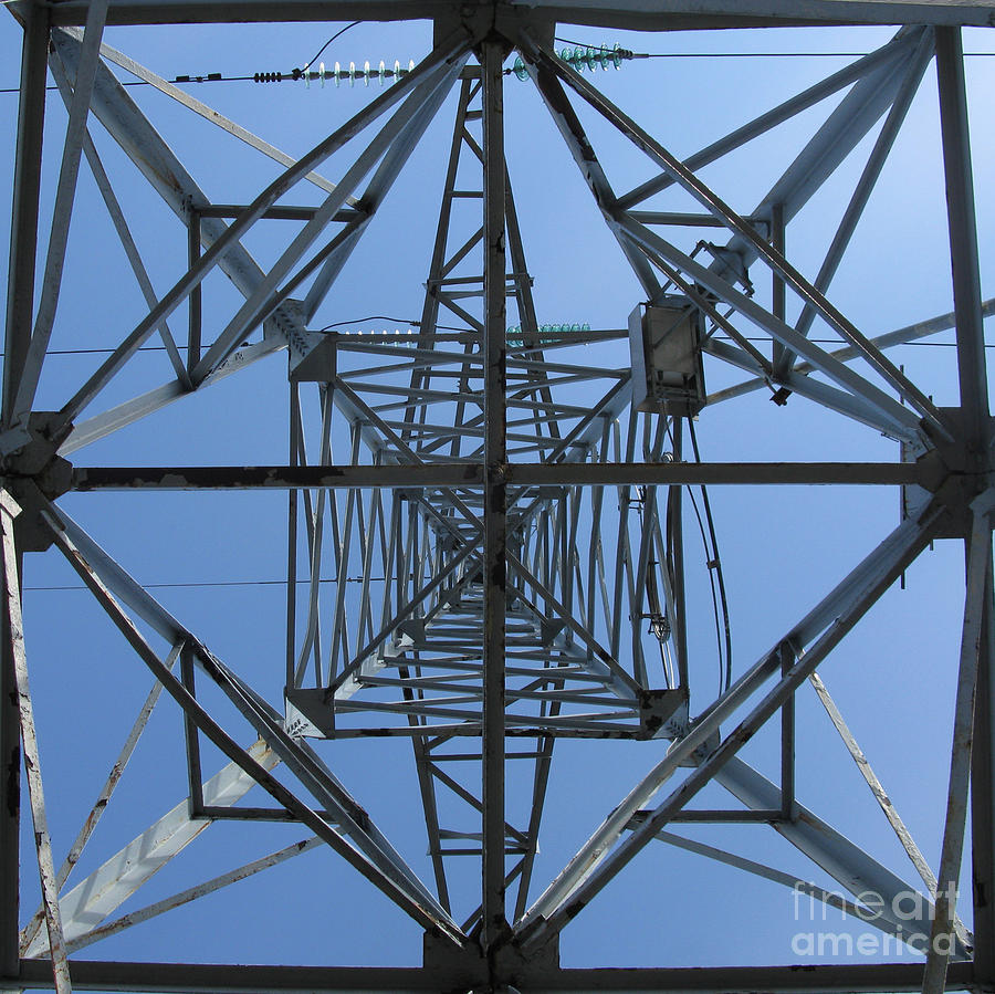 Power Tower. Square Format. Photograph