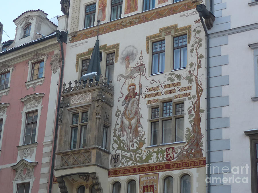 Prague Art Deco Facade Photograph By Deborah Smolinske