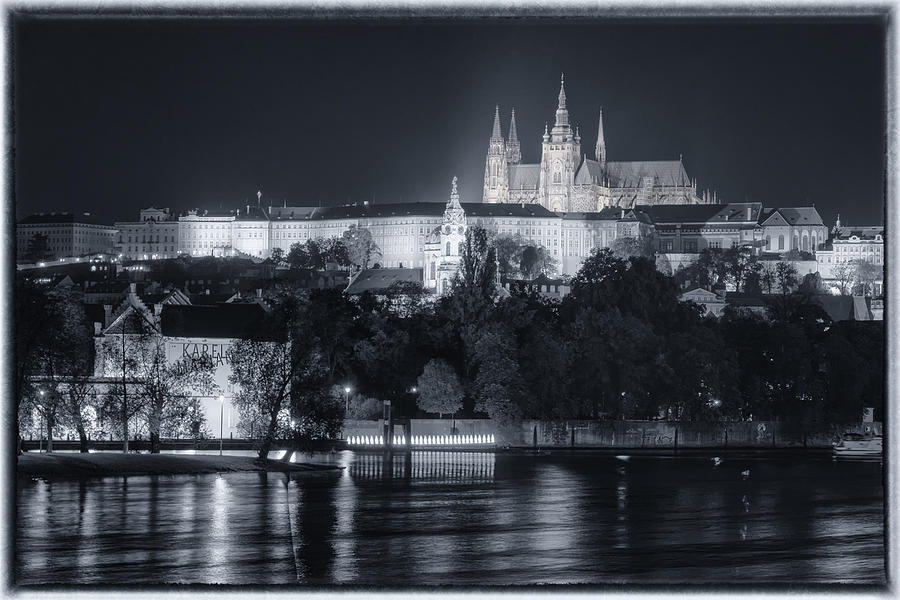 Prague Castle At Night Photograph
