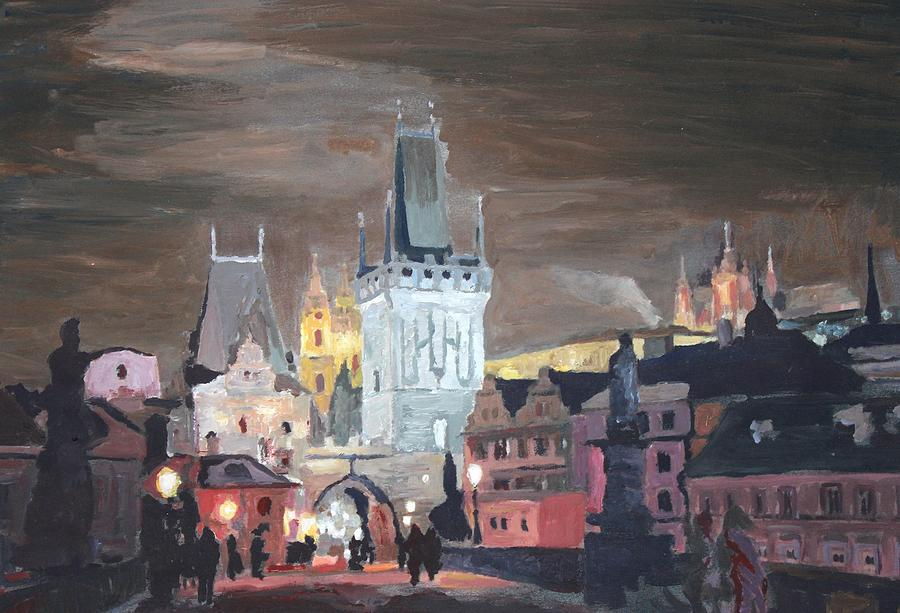 Prague Charles Bridge - Karluv Most Painting  - Prague Charles Bridge - Karluv Most Fine Art Print
