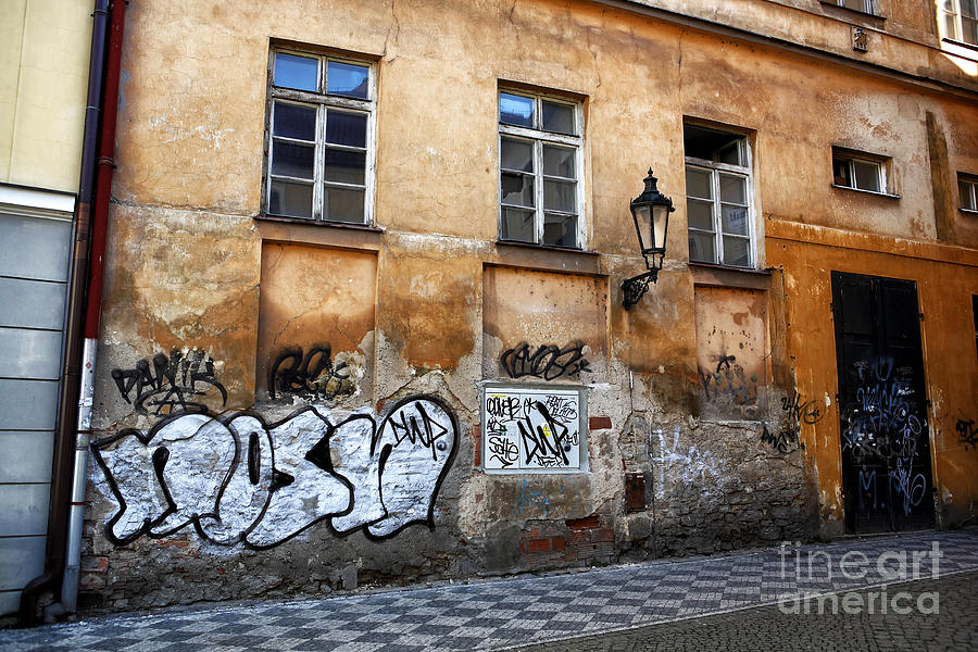 Prague Graffiti Scene Photograph  - Prague Graffiti Scene Fine Art Print