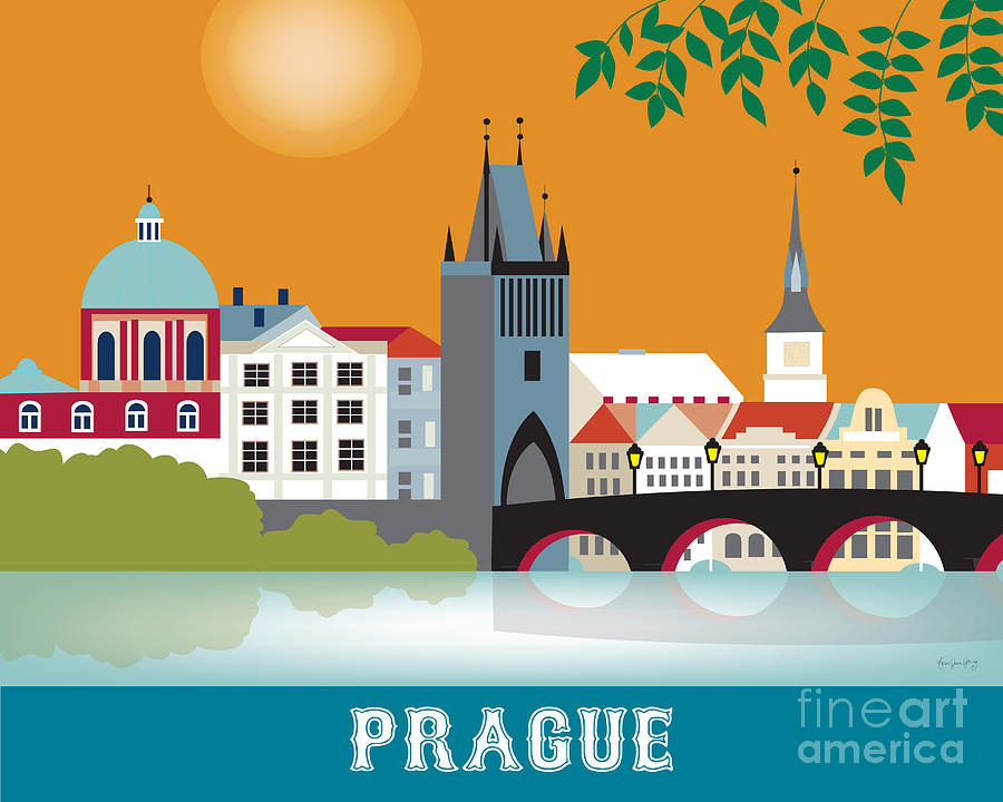 Prague Digital Art  - Prague Fine Art Print