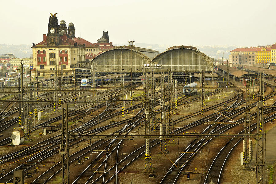 Prague Railroad Station Photograph  - Prague Railroad Station Fine Art Print