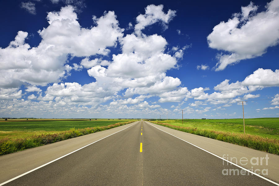 Prairie Highway Photograph  - Prairie Highway Fine Art Print