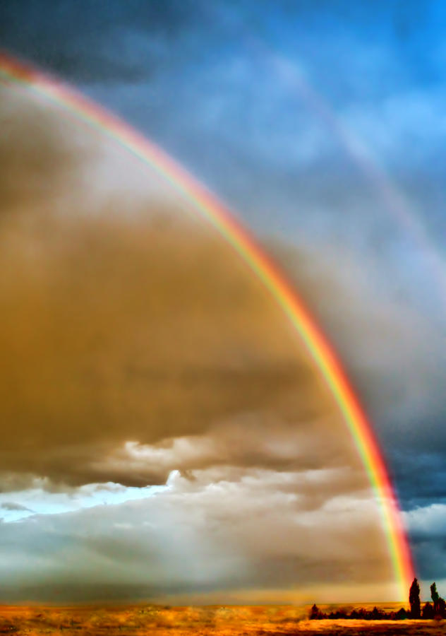 Sky Photograph - Prairie Rainbow by Ellen Heaverlo