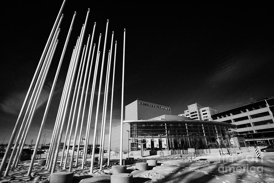 prairie wind sculpture outside the remai arts centre Saskatoon Saskatchewan Canada Photograph