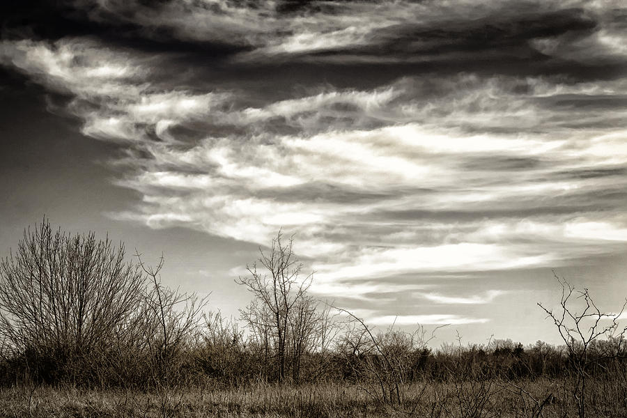 Prairie Winter Sky Photograph  - Prairie Winter Sky Fine Art Print