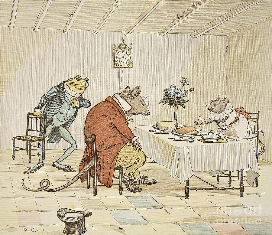 Randolph Caldecott Painting - Pray Miss Mouse Will You Give Us Some Beer by Randolph Caldecott
