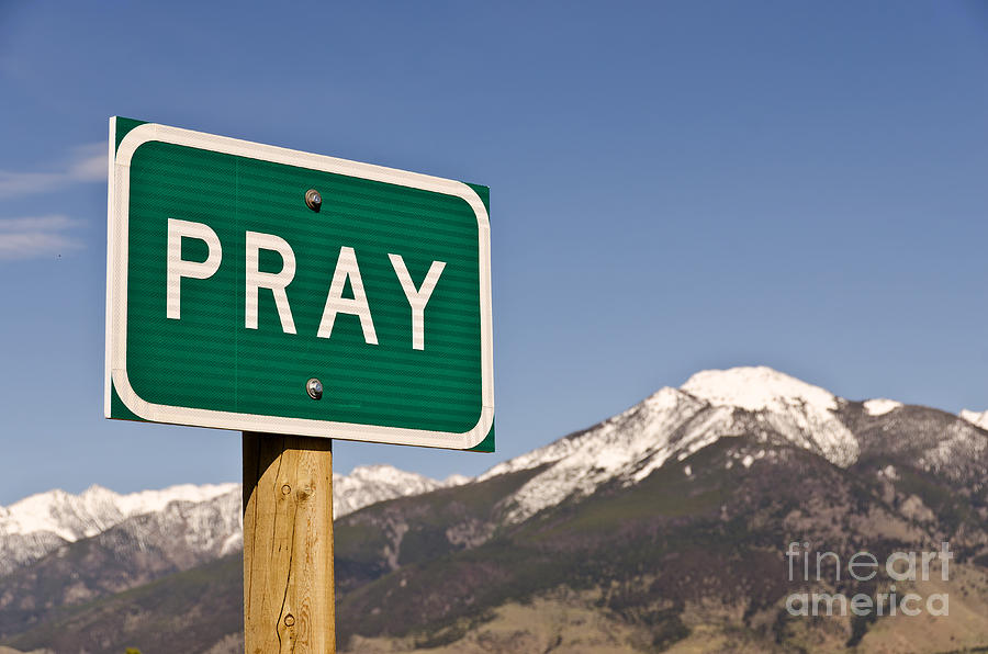 Pray Photograph  - Pray Fine Art Print