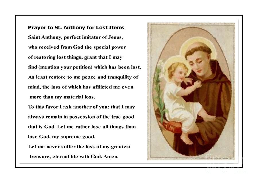 saint anthony find lost articles