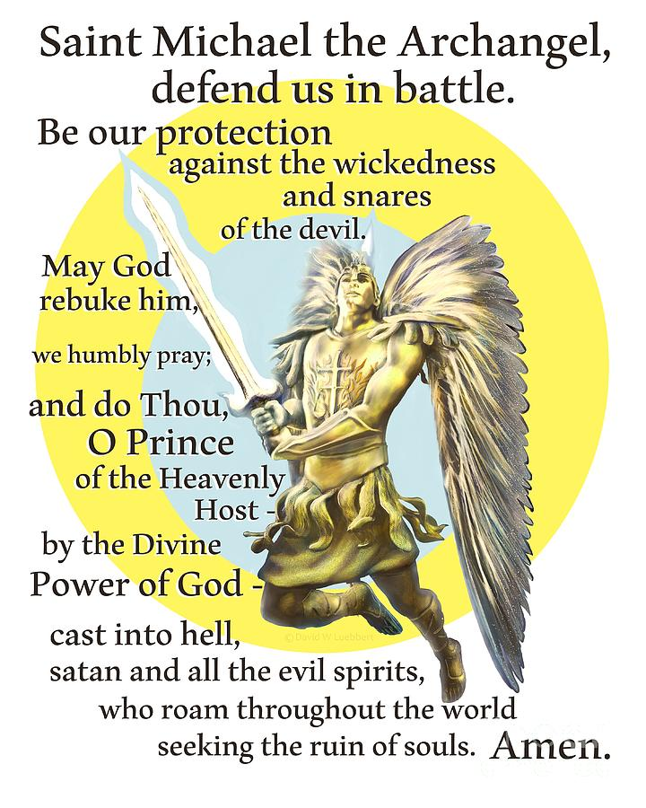 Prayer To St. Michael The Archangel Painting