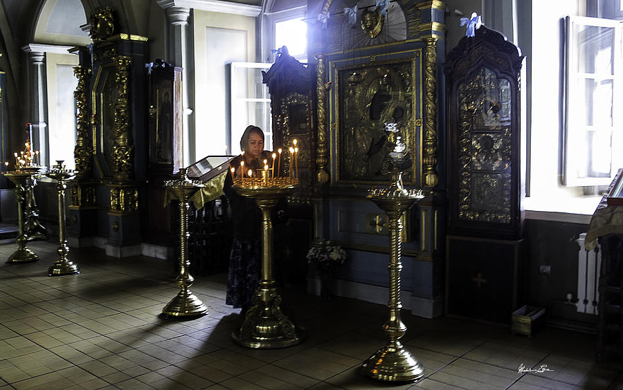Convent Photograph - Praying At The Convent - Moscow - Russia by Madeline Ellis