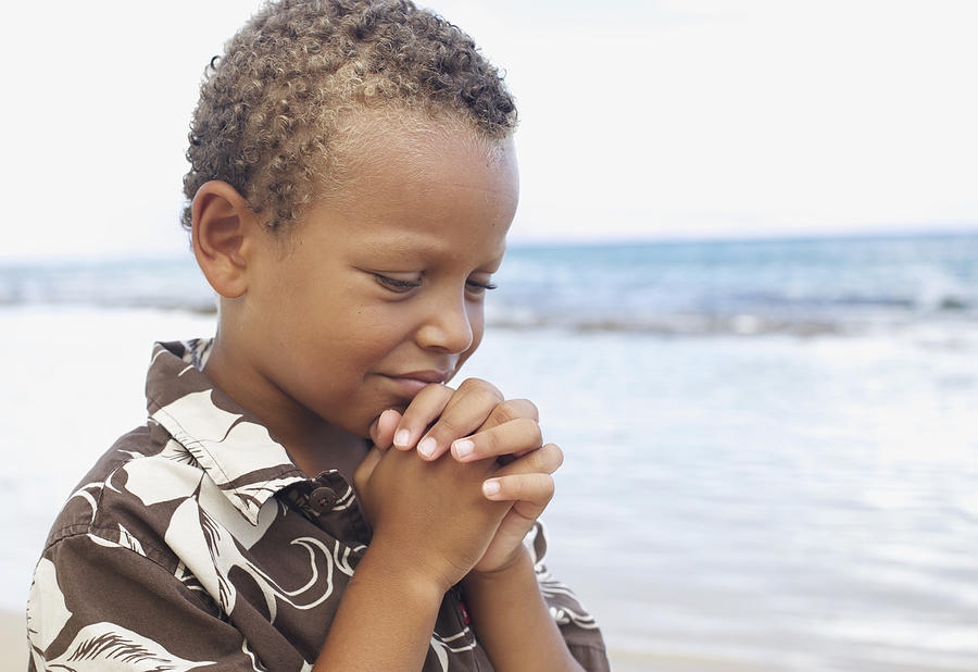 Praying Boy Photograph  - Praying Boy Fine Art Print