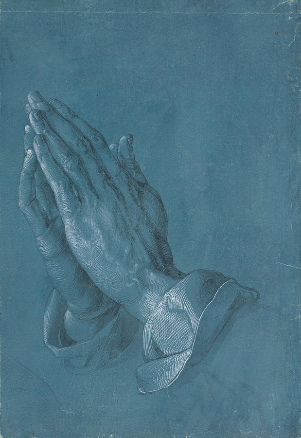 Praying Hands Painting  - Praying Hands Fine Art Print
