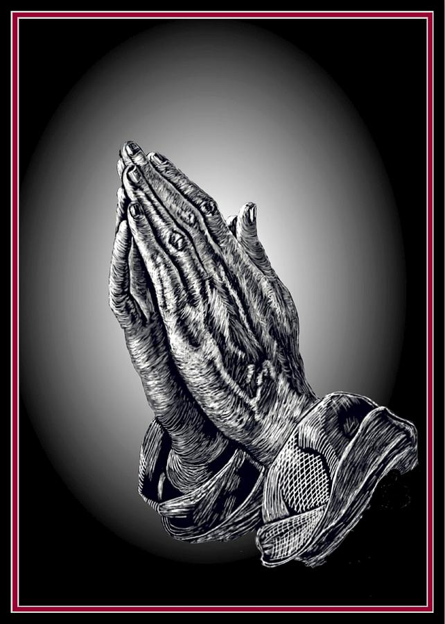 Praying Hands Digital Art  - Praying Hands Fine Art Print