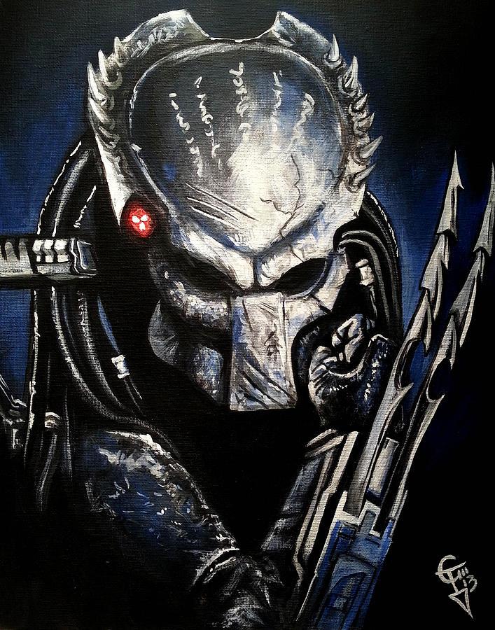 Predator Painting By Tom Carlton