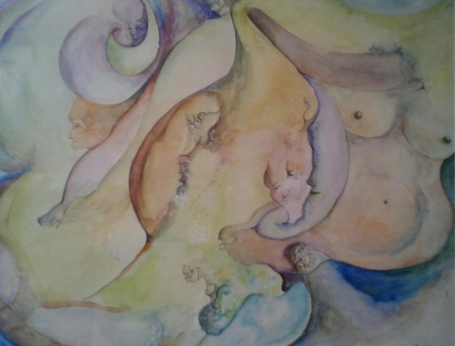 Pregnant With Desire One Painting  - Pregnant With Desire One Fine Art Print