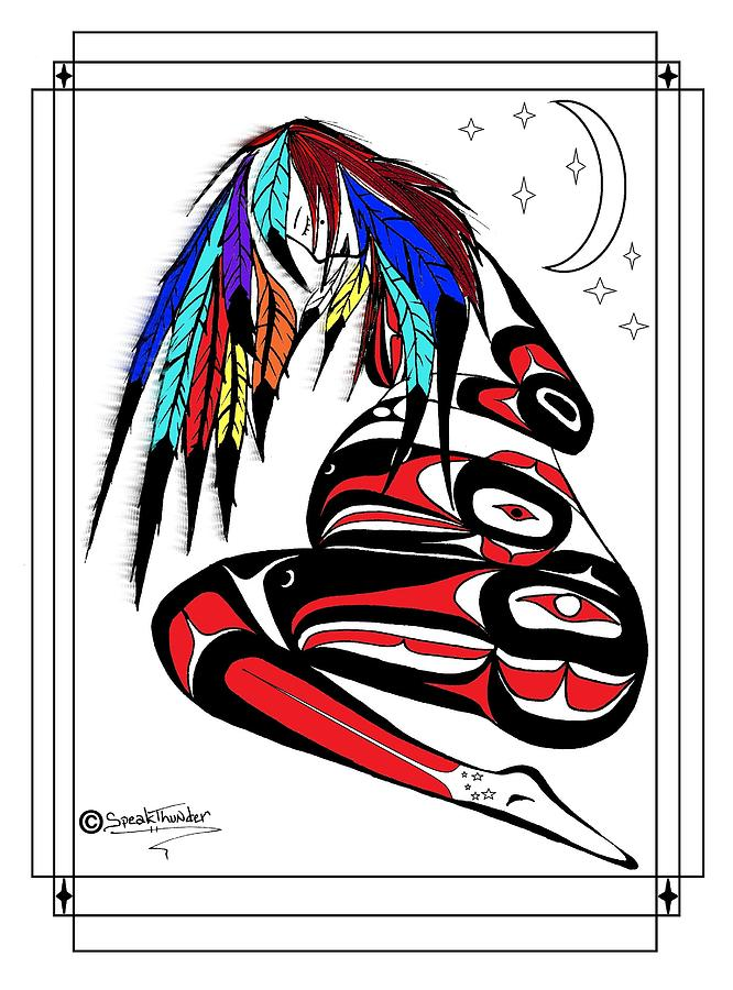 Beautiful Drawing - Prego Feathers by Speakthunder Berry