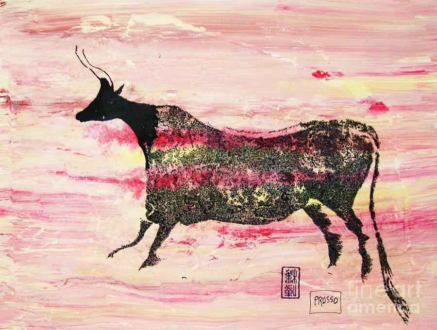 Prehistoric Cattle  2 Painting