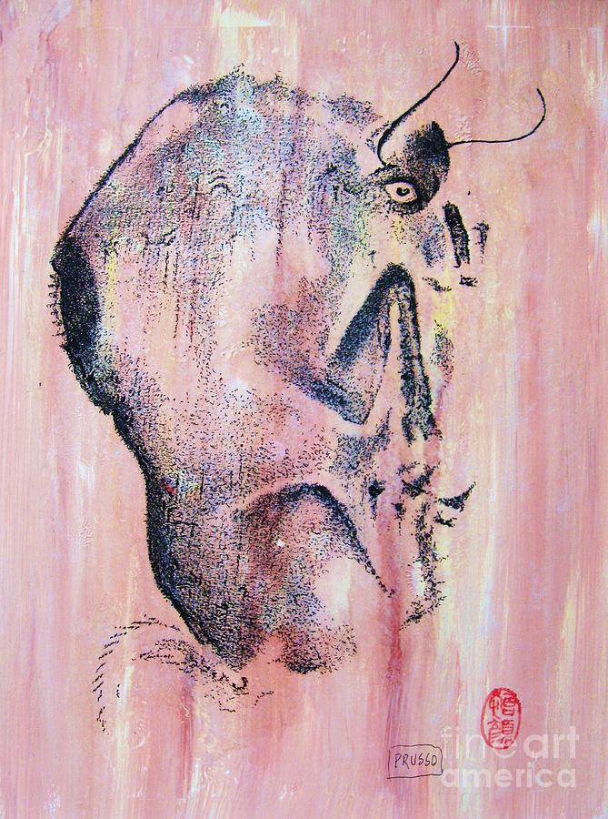 Prehistoric Cattle Painting  - Prehistoric Cattle Fine Art Print