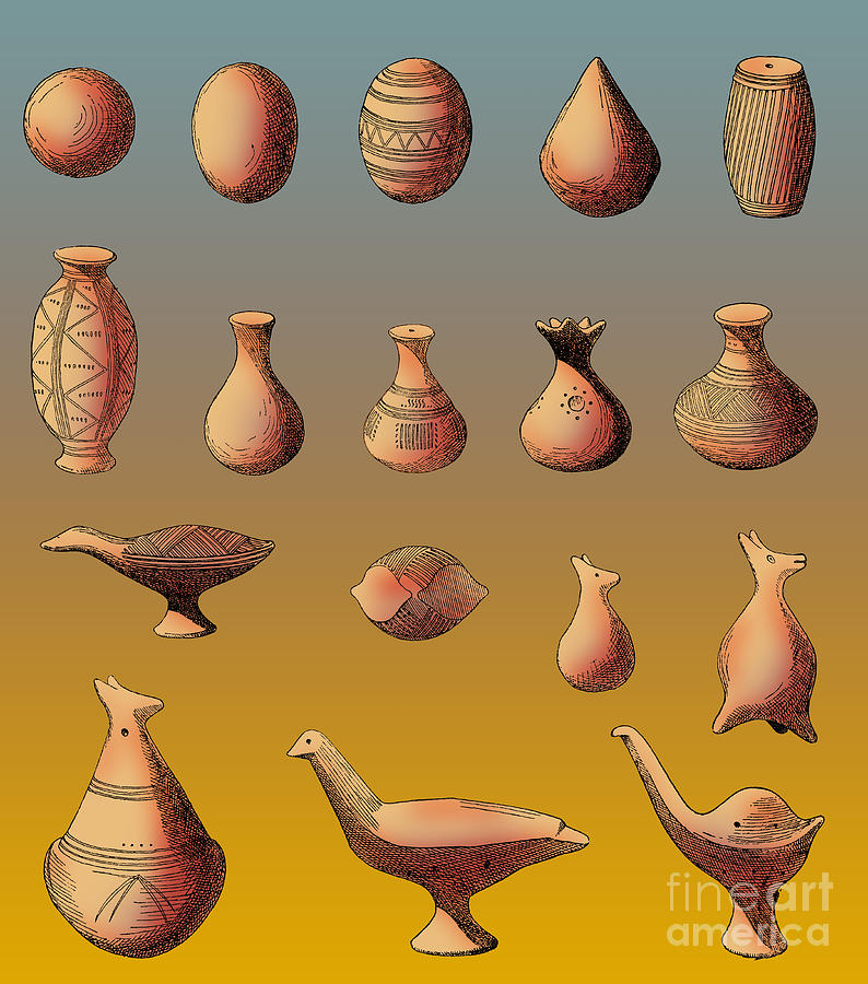 Prehistoric Clay Rattles Bronze Age Photograph