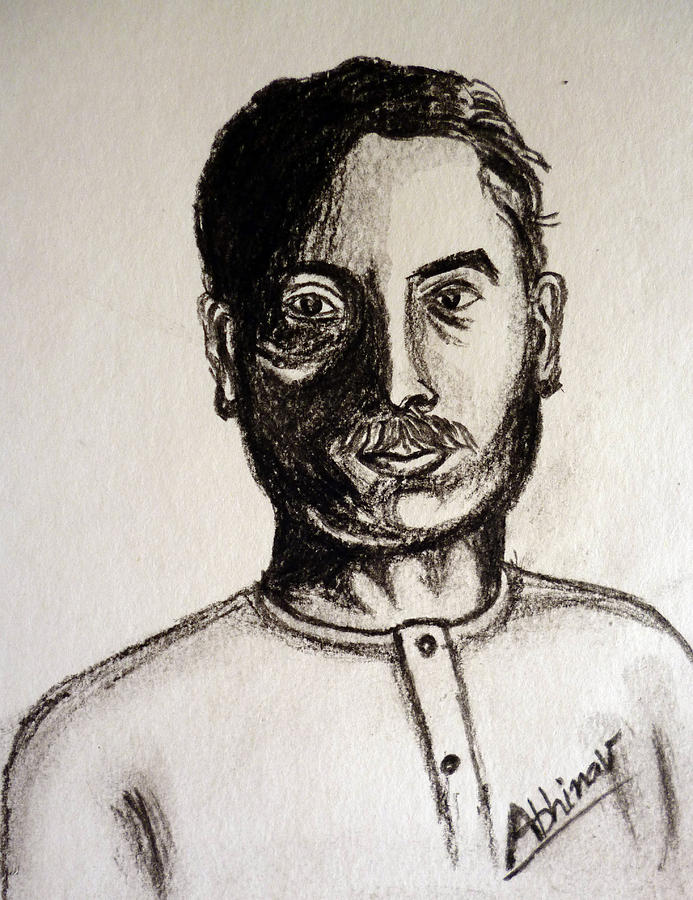 Prem Chand - Great Indian Writer. Drawing